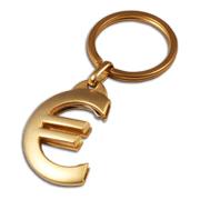 Schlüsselanhänger Einkaufswagenchip EKW Sonderhalter SOH Euro gold